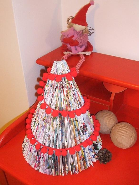 Manualidades de Navidad con material reciclado
