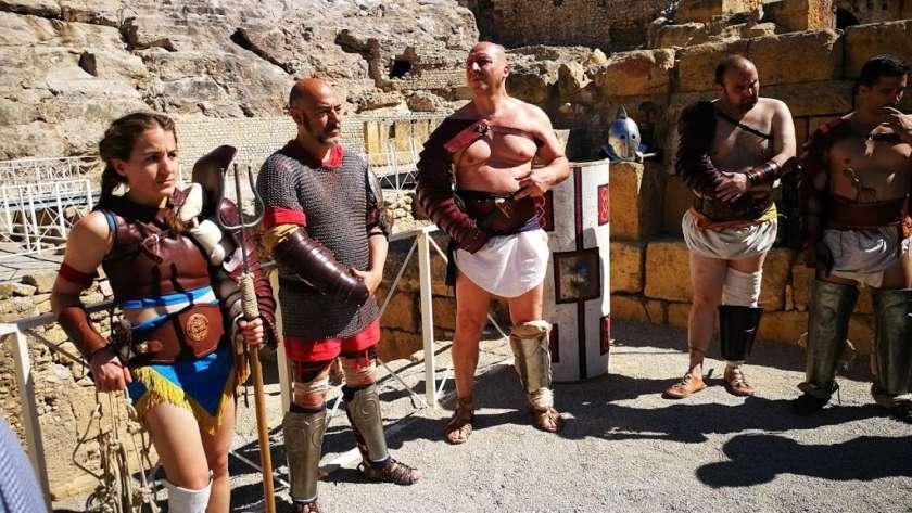 Taller de gladiadores en Tarraco Viva
