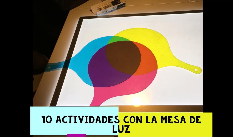 10 actividades con la mesa de luz