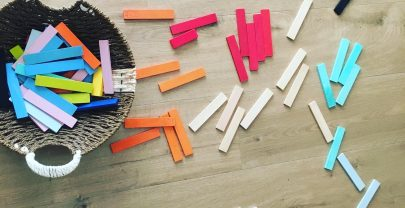 Bloques de madera para jugar