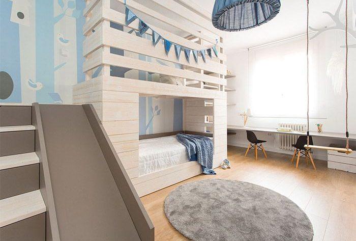 Toboganes en habitaciones infantiles