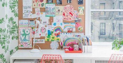 Escritorios y zonas de estudio en casa para niños