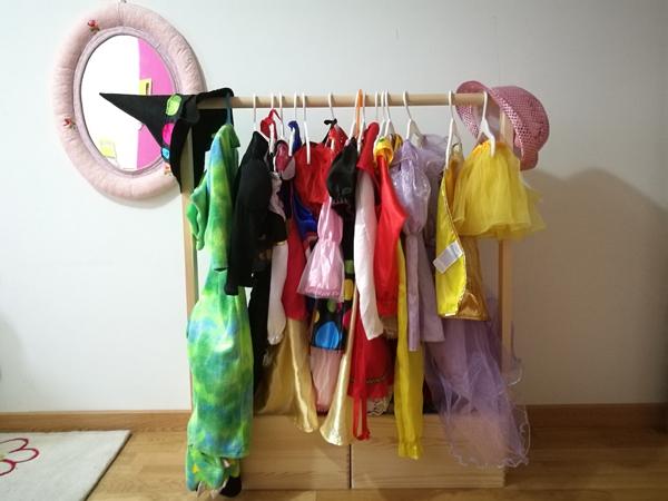 Ideas para guardar los disfraces